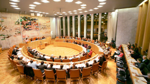 kommunfullmäktige - bild på rummet